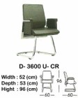 Kursi Hadap Indachi Type D-3600 U-CR